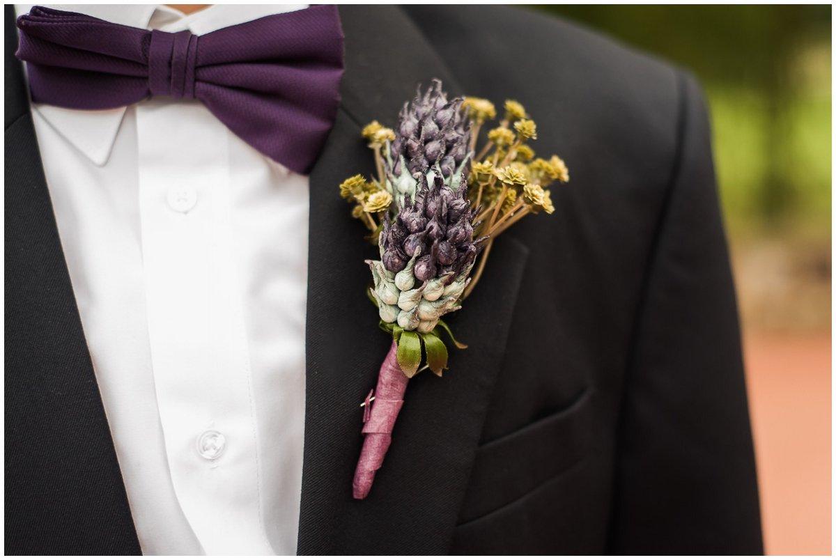 Madera Estates Wedding Groom's Boutonniere