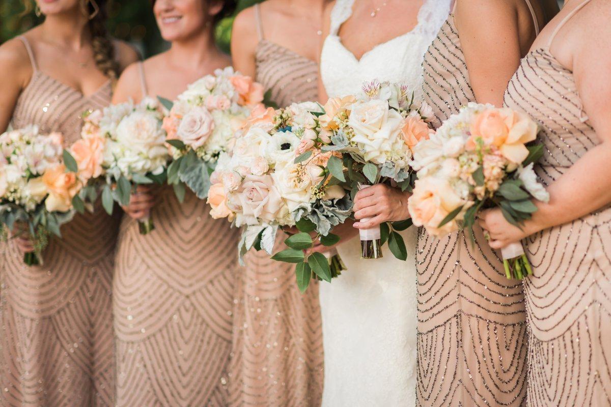 Chic Butlers Courtyard Wedding Bridesmaid Flowers