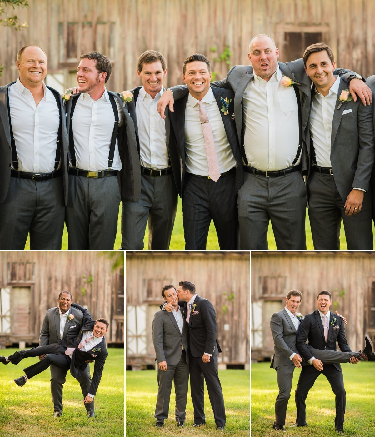 Groom and Groomsmen Pictures at Butler's Courtyard