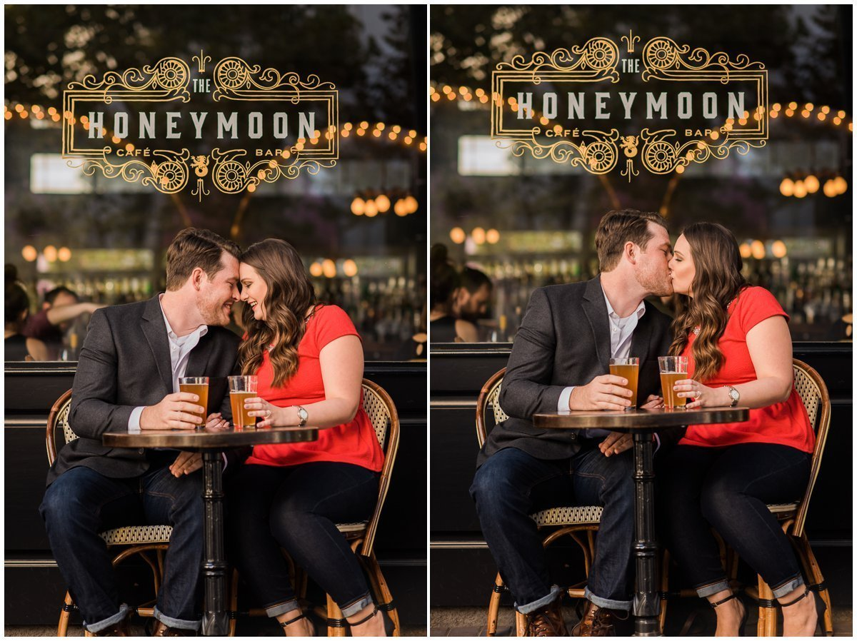 Honeymoon Cafe Downtown Houston Engagement Photos