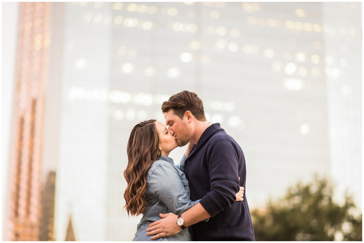 Colorful Downtown Houston Engagement Photos