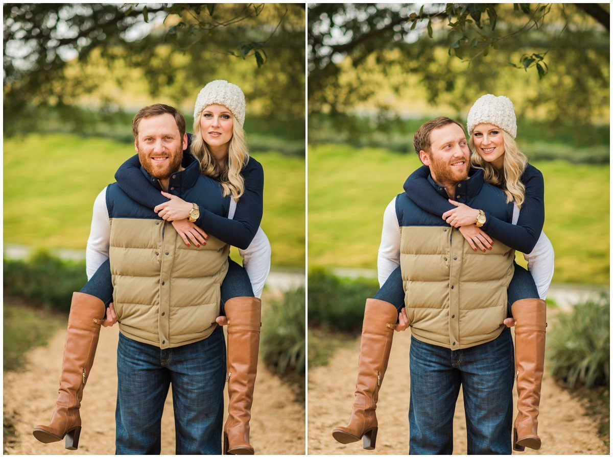 Houston Fall & Winter Engagement Photos in downtown Houston