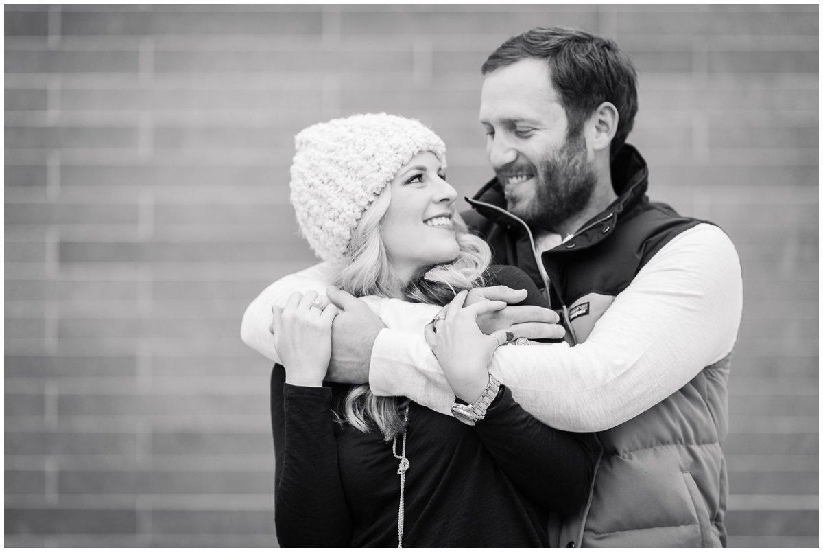 Cute Houston Winter Engagement Photos