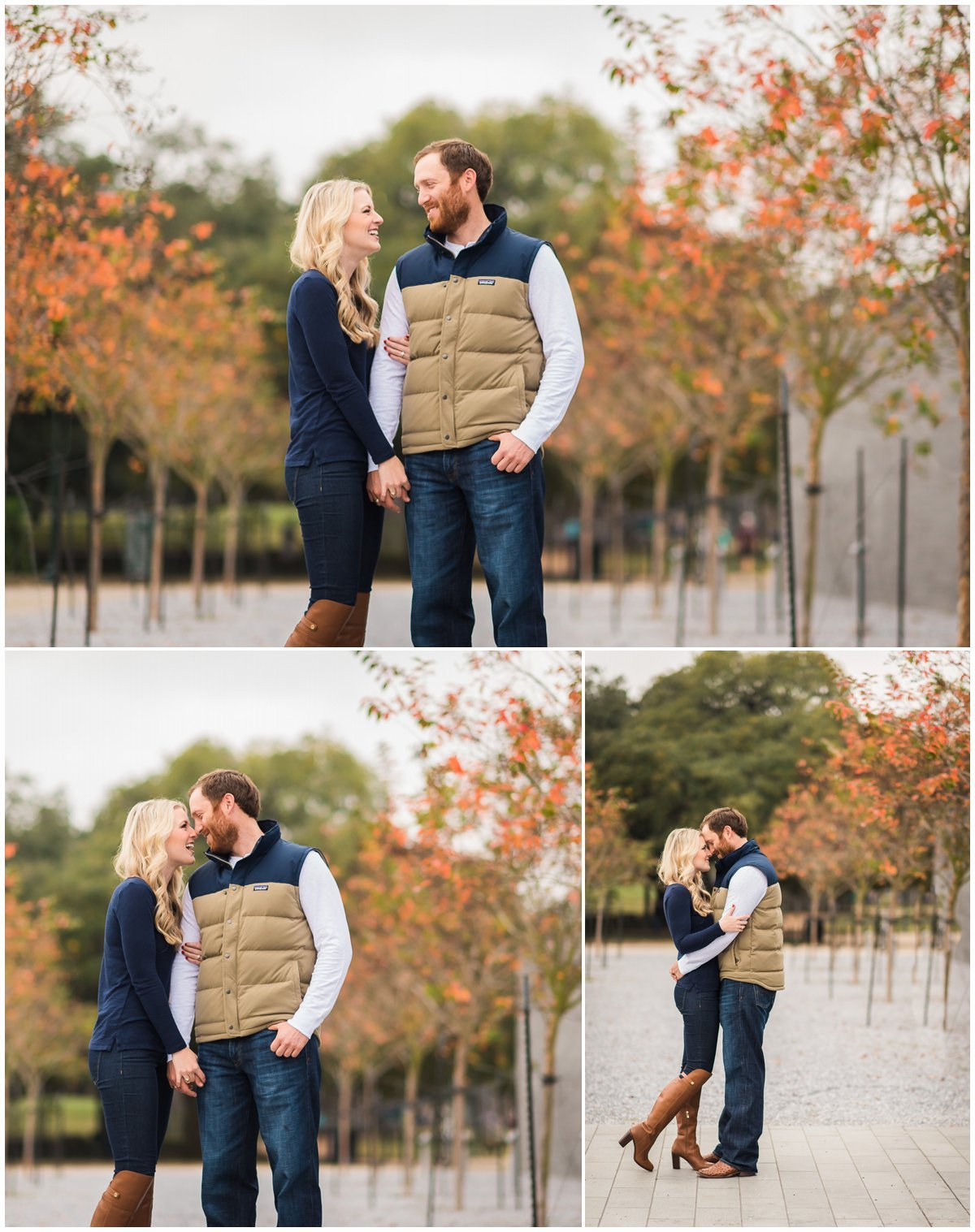 Adorable Fall & Winter Engagement Photos in Houston