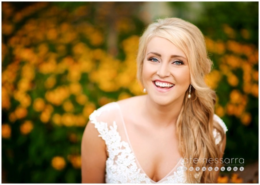 Houston Bridal Portraits in garden