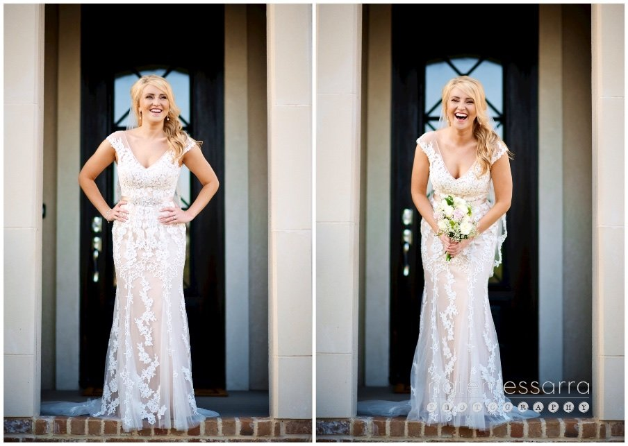 Houston Bridal Portraits in home