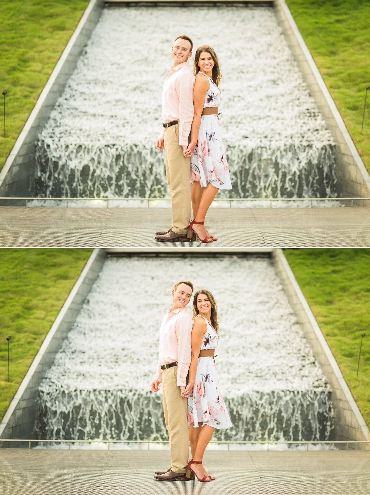 Houston Engagement with waterfall