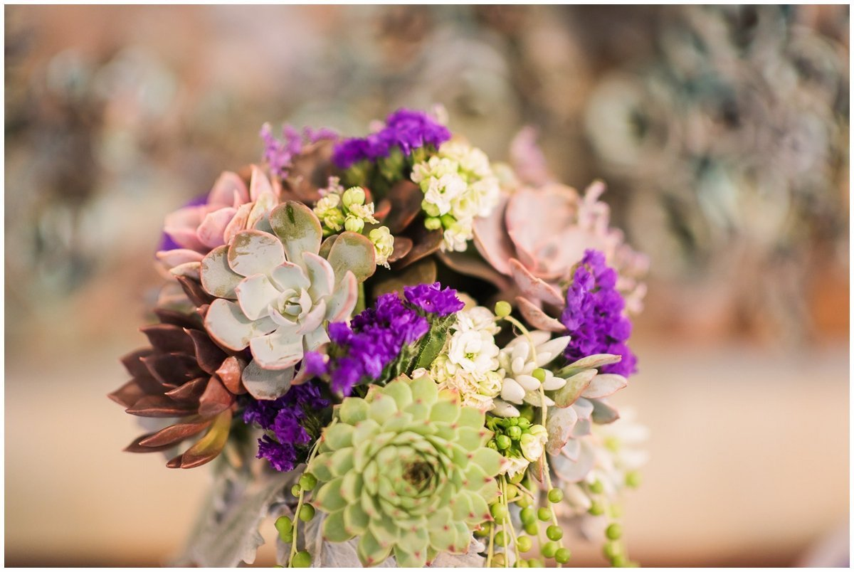 Madera Estates Wedding Succulent Bouquet