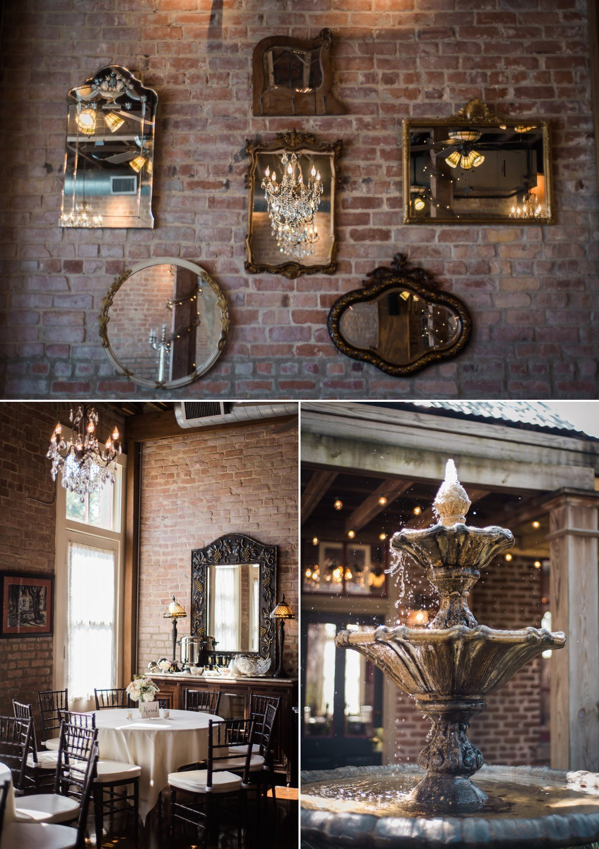 Chic Butlers Courtyard Wedding Details