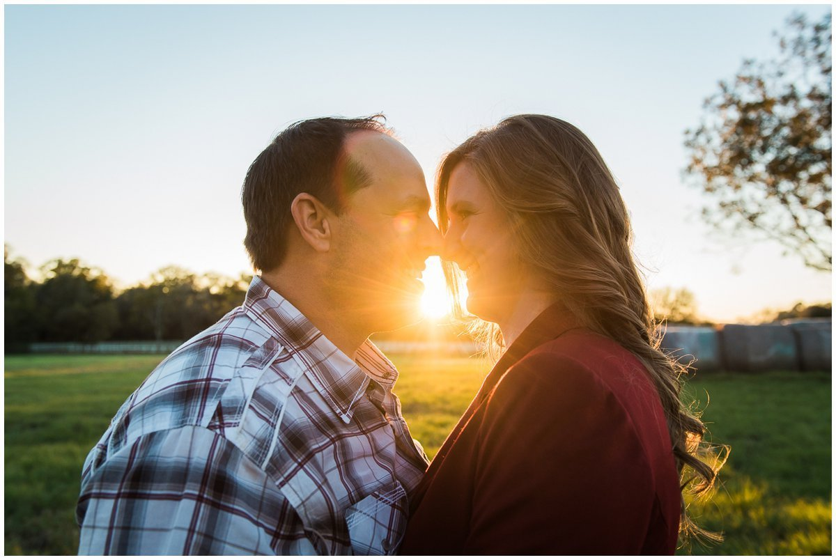 Gorgeous Sunset Country Engagement Photos