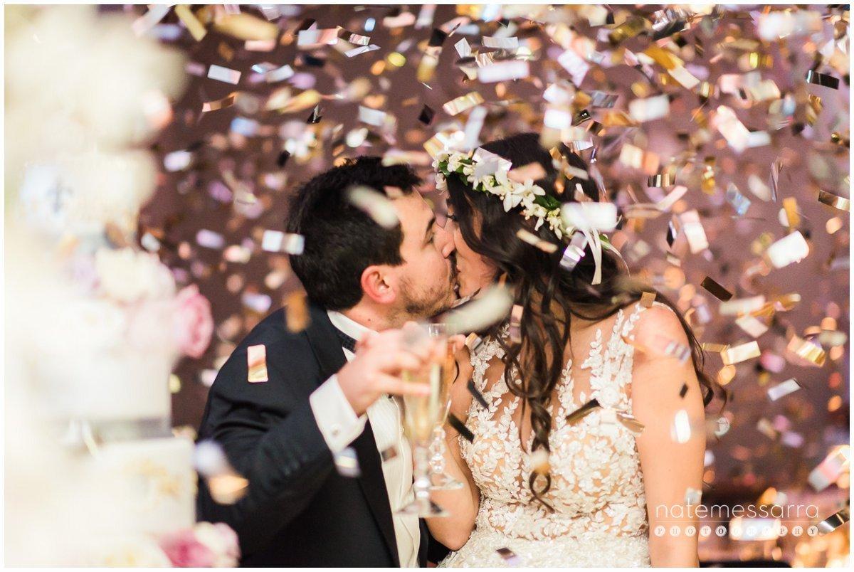 St Regis Houston Wedding Confetti toss