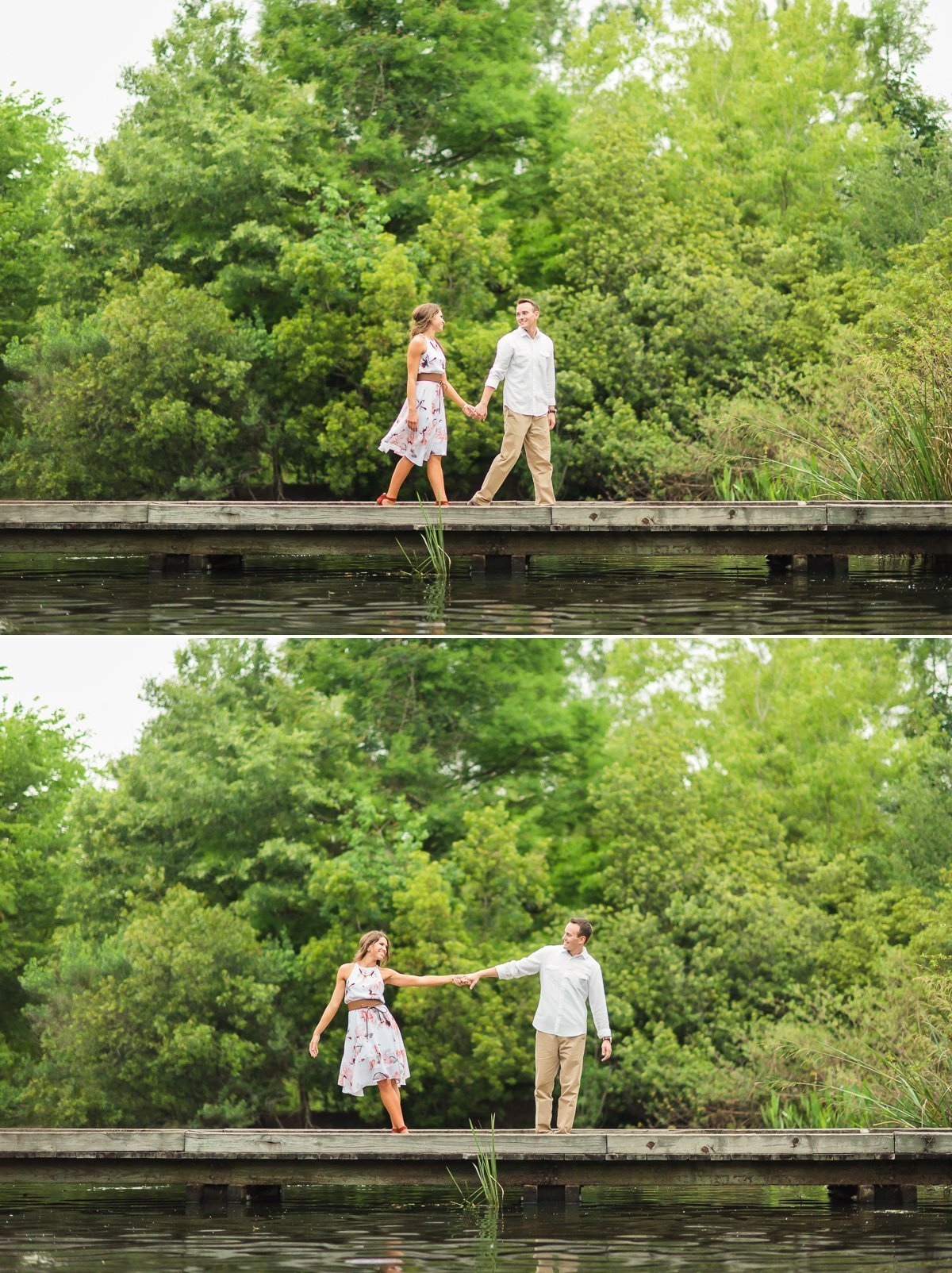 Hermann Park Houston Engagement Portrait